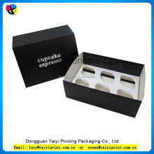 flat pack cardboard 6 pcs cupcake favor boxes