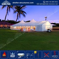 Durable and long life span white color big wedding tent used in outdoor for party wedding and event tent