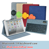 wholesale promotional wireless bluetooth keyboard for ipad mini ipad mini2 detachable bluetooth keyboard case