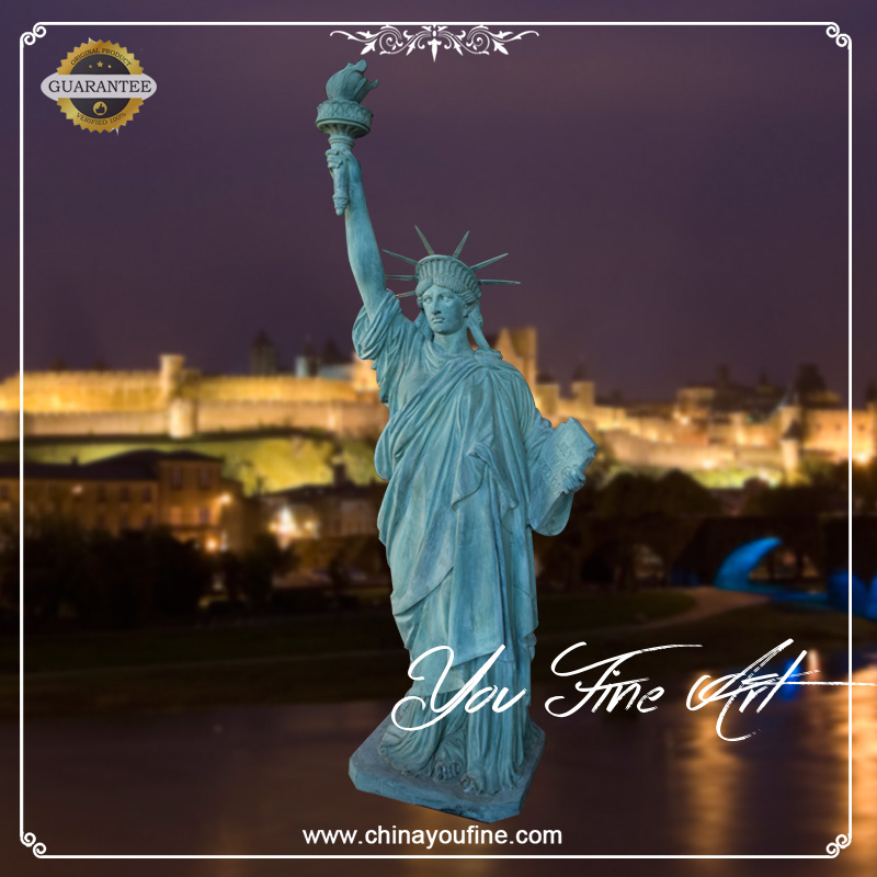 High quality outdoor life size bronze statue of liberty
