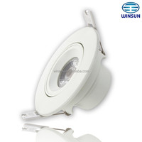 Aluminium+PC dimmable led down light 220-240VAC 6W CRI80