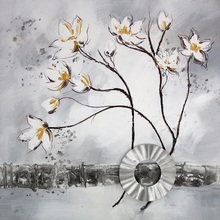 High Quality Flower Canvas Oil Painting Wall <strong>Picture</strong> For Living Room