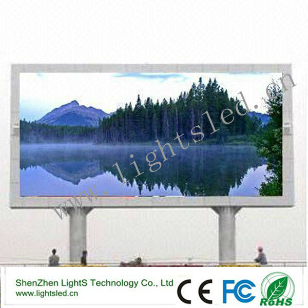 Consumer electronics outdoor p10/p8 led full color sign for tourist resort