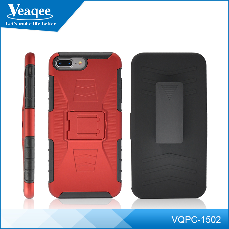 Veaqee hot new products 3 in 1 pc silicone combo robot cases for iphone 7