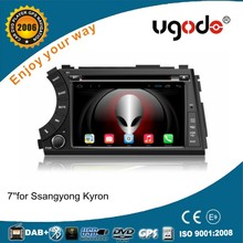 For Ssangyong Kyron/Actyon 7 inch 2 din android car audio with gps 3g wifi swc