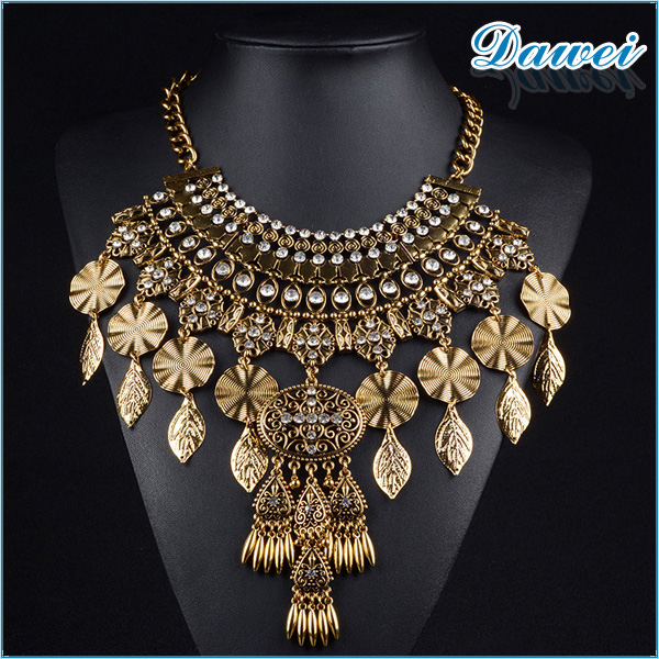 yiwu supplier wholesale high quality zinc alloy jewelry necklace european style 18k gold necklace