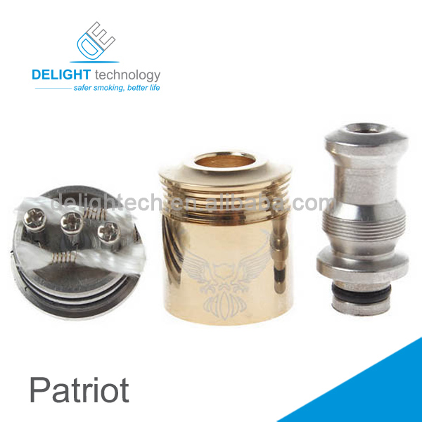 2014 best selling rebuildable patriot stainless atomizer airflow control patriot clone