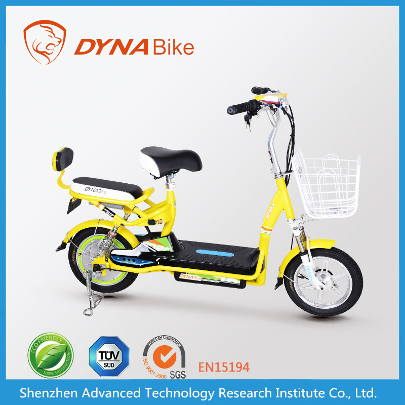 2015 cheap price cute electric moped/electric motorbike with basket DYNABike brand