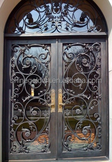 Main Entrance Forged Gate Steel Fame Fence Gates GYD-15D0540