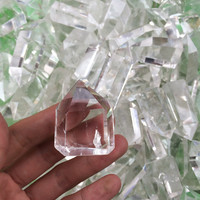 Natural Clear Quartz Crystal Small Sized Point Pendant For Sale