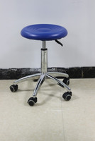In-kind shooting aluminum legs adjustable lab stool/PU lab stool
