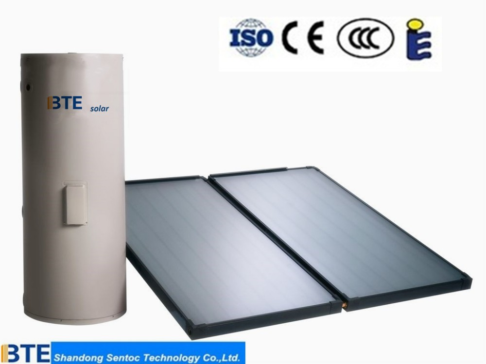 BTE Solar spain solar water heater flat panel solar collector