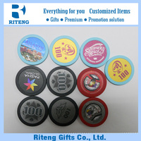 Colorful Gambling ,Roulette Plastic Game Chip
