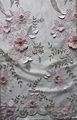 Hot selling handmade 3D flowers embroidery beaded lace for dress