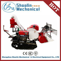 High efficiency track crawler type rice wheat combine harvester with good quality