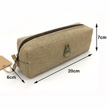 Handmade Linen Material Cool Pencil Boxes for Adult