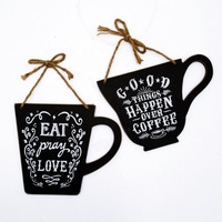 Wholesale New Wall Hanging Chalkboard sign with Sayings Quotes and Strings for CAFE PUB Kitchen Home Decor Ornaments