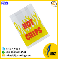 Flat or gusset GPL oil resistant greaseproof paper bag for hot chips