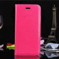 Luxury Crystal wallet flip leather cell phone case for iPhone 6