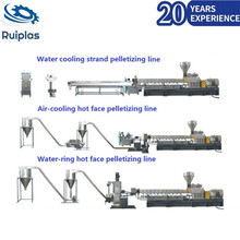 Cheap price double screw used plastic recycling machinery
