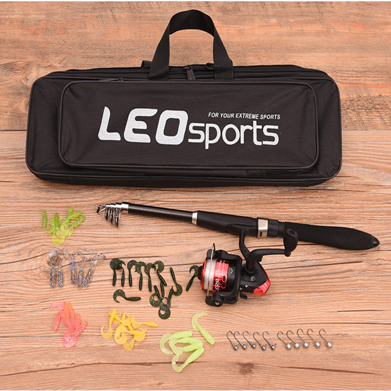 Factory wholesale fishing gear set telescopic fishing rod bag sea fishing equipment