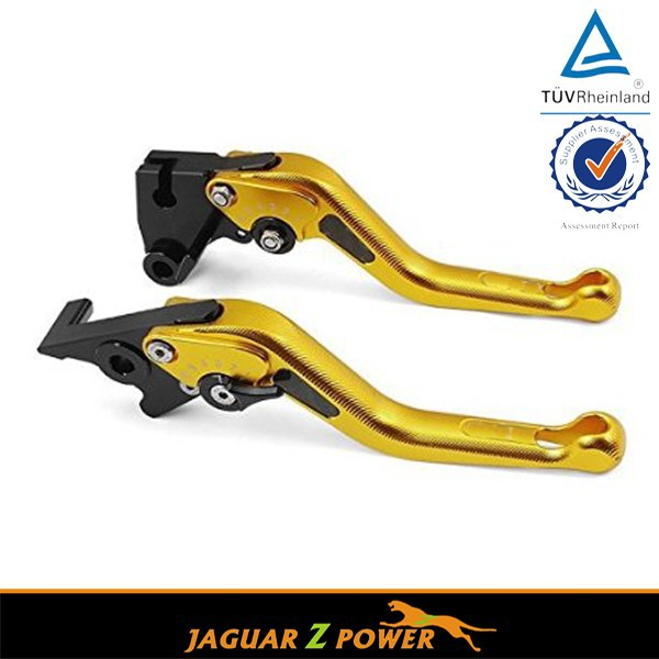 Motorcycle CNC Gold Short Adjustable Brake Clutch Levers for Kawasaki Versys K750 09-12