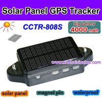 big battery 45 days standby GPS tracker with waterproof, solar panel