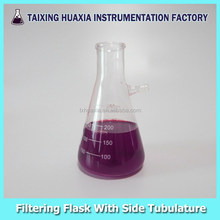 Filtering Flask with side tubulature, Laboratory glassware