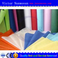high quality 100% pet spunlace nonwoven fabric for PVC leather backing