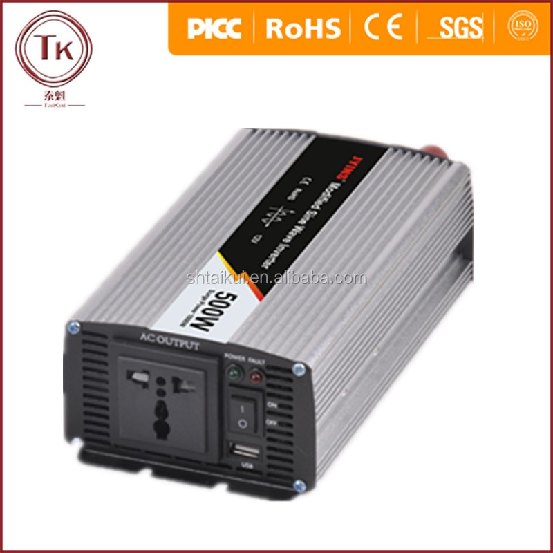 1000W Peak Real 110V DC to 220V AC 500W Modify Sine Wave Power Inverter Converter