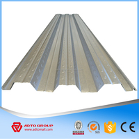 Galvanized Building Materials 0.8mm 1.0mm 1.2mm Thick Corrugated Metal Deck / Floor Support Plate/ Steel Decking Sheet