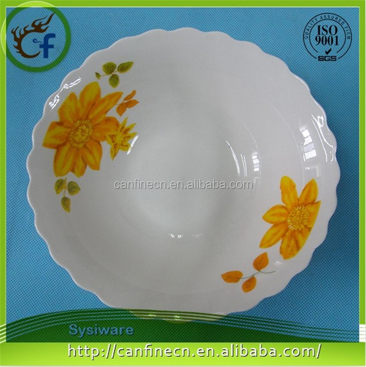 Cheap ceramic microwave dish plate, restaurant indian dinner plate