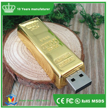Newest design golden usb flash drive pen drive 8GB 16GB Gold Bar USB 2.0/3.0 Flash memory pendrive Stick disk