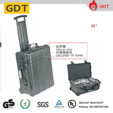 Trolley plastic PP hard box EVA foam water proof instruments millitary tool case tool box