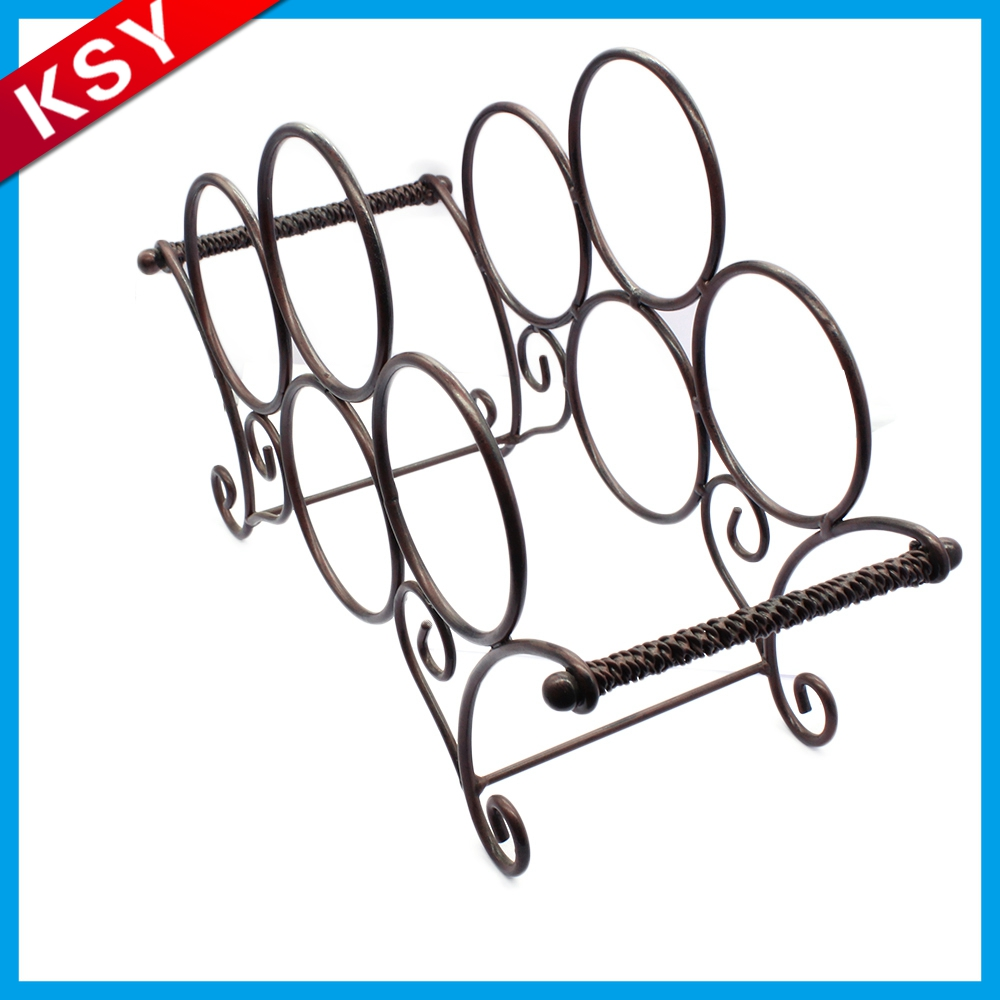 Professional Production Factory Supply Freestanding Black Funky Metal Wine Racks