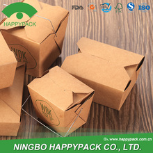 HAPPYPACK disposable take away paper fried chicken box noodle box with handle
