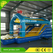 New design shark theme Inflatable combo inflatable bouncer with slide