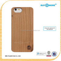 Factory price light phone case wood cover maple wooden mobile phone case