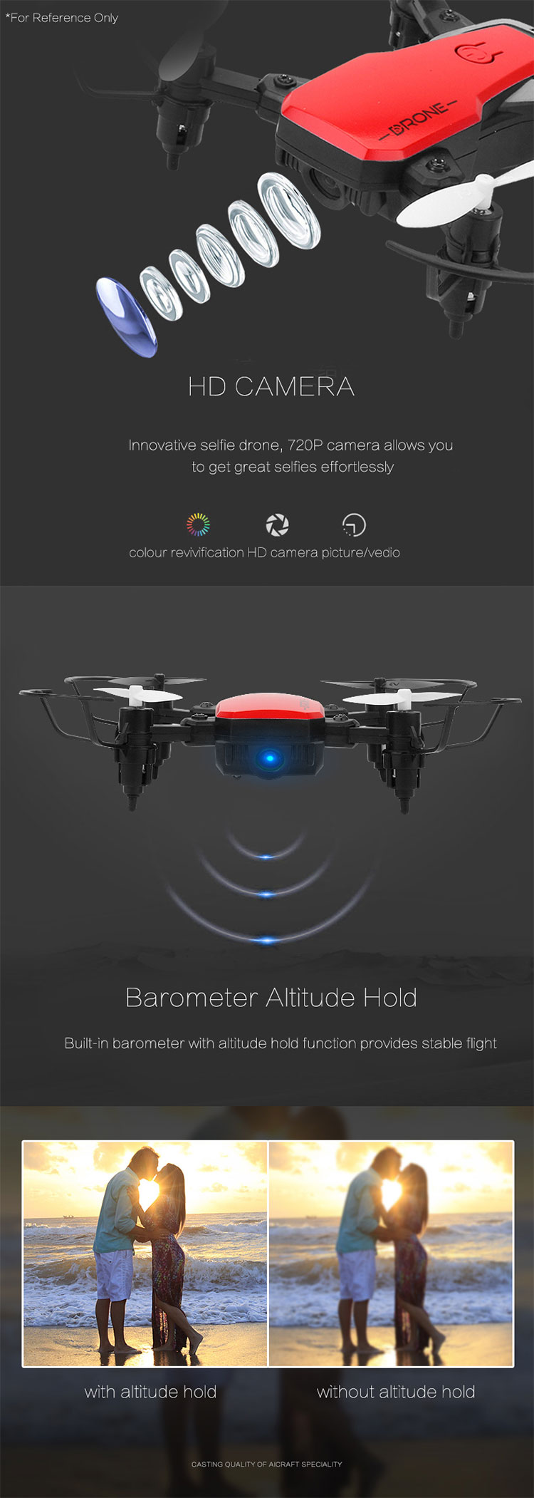 FPV 2.4GHz Folding Drone Quadcopter With HD Wi-Fi Camera Live Video Feed