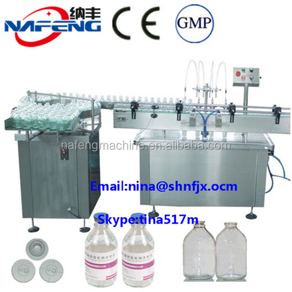 Shanghai Designed Auto Filling Equipments For 100ml 500ml Normal Saline Bottle