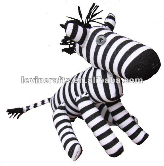 zebra sock toys for baby stuffed