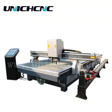new designed plasma machine with rotary axis metal tube cnc plasma cutter