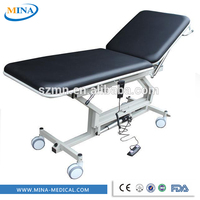 cheap price 2 pieces electric patient mobile medical examination table