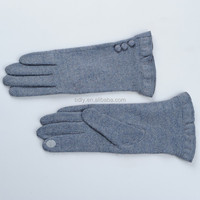 Ladies fashion wool touchscreen gloves for mobile phone