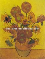 Musuem Quality Famous oil painting Reproduction Sunflowers