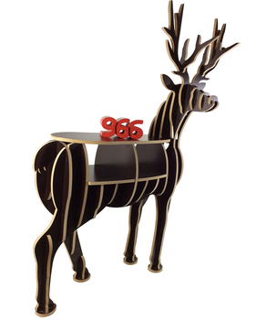 Alibaba gold supplier art mind Eco-friendly wood carving crafts of deer