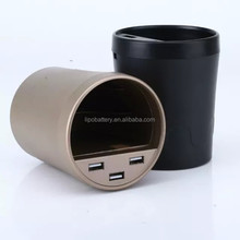 Universal 3 USB Car Charger with cup holder for Smart phone and tablet pc