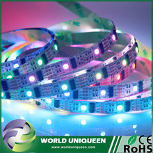 Non Waterproof IP20 White PCB 5M / ROLL 32 Pixels WS2801 5050 RGB Dream Color LED Strip Addressable