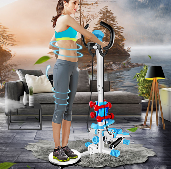 exercise stepper with handlebar