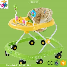 360 degree rotating baby walker/Round baby walker with brakes 8 swivel wheels